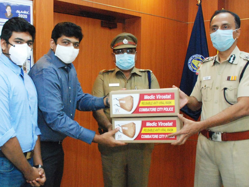 Specially designed face mask for police in uniform colour